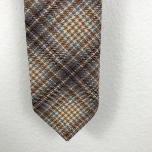 Pendleton plaid wool skinny tie